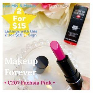 MUFE Artist Rouge Lipstick • C207 Fuchsia Pink •
